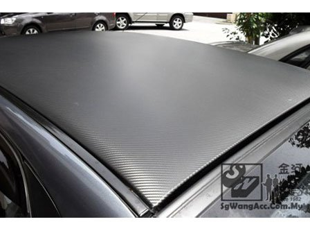 carbon sticker on car roof
